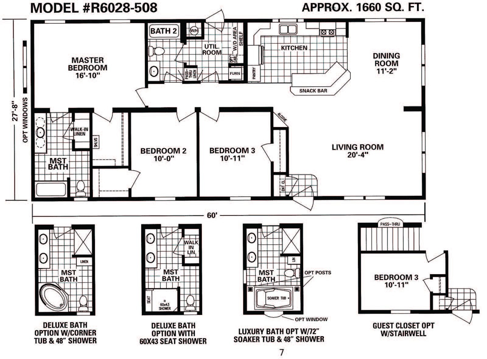 Schult timberland 6028 508 excelsior homes west inc for Timberline homes floor plans