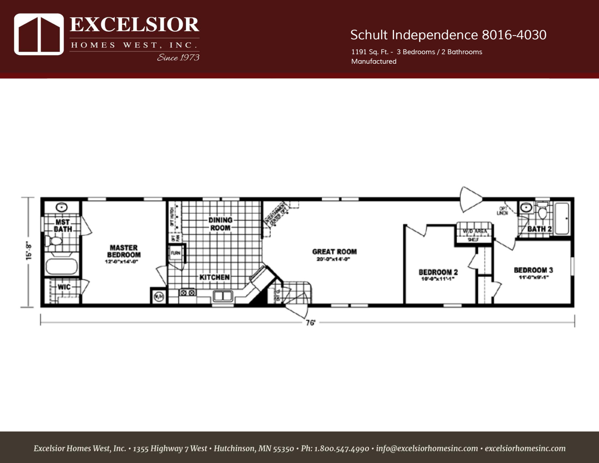 Schult Independence 4030 Single Wide Excelsior Homes