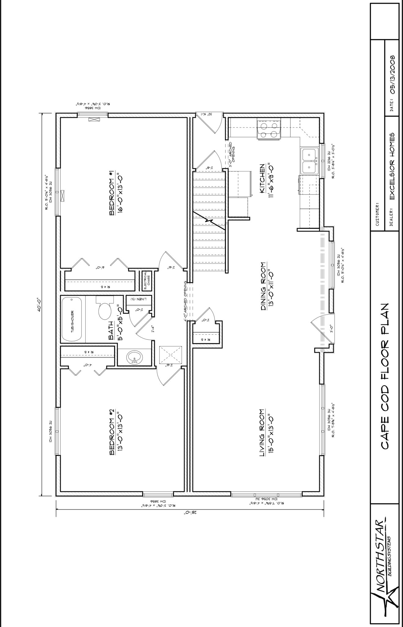 Custom cape cod modular home l excelsior homes inc for Modified cape cod house plans
